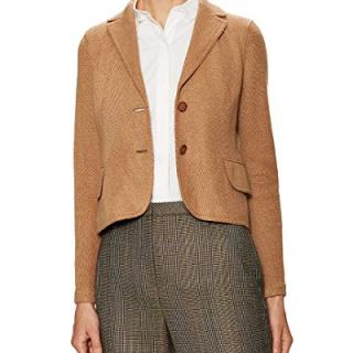 Akris Womens Beatle Split Cuff Jacket, 6 Tan