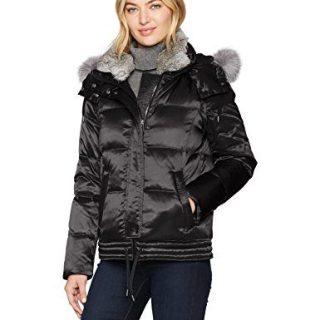 Andrew Marc Women's Lillie Luxe Shine Down Short Coat