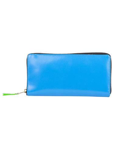 Comme Des Garçons Women's Blue Leather Wallet