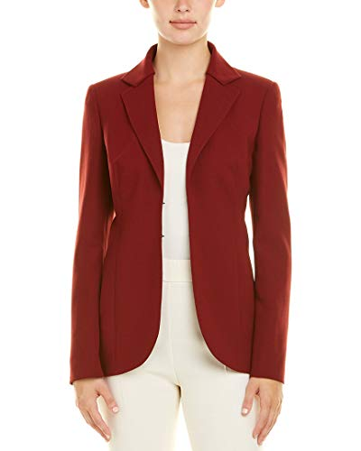 Akris Womens Wool-Blend Jacket, 10, Red