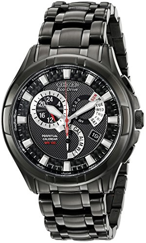 """Citizen Men's Eco-Drive """"Calibre"""" Black Ion-Plated Stainless Steel Watch"""
