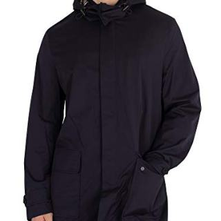 Aquascutum Men's Dexter Parka Jacket, Blue, X-Large