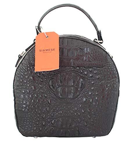 Authentic M Crocodile Skin Womens Strap Clutch Bag Purse