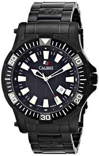 Calibre Men's Hawk Date Analog Display Quartz Black Watch