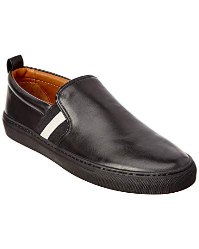 BALLY Herald Leather Sneaker, 10, Black