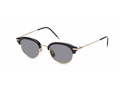 THOM BROWNE Black-Shiny 12K Gold-w/Dark GreyAR Sunglasses