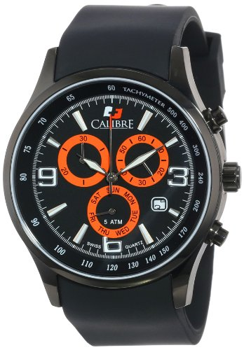 Calibre Men's Mauler Black Ion-Plated Coated Stainless Steel