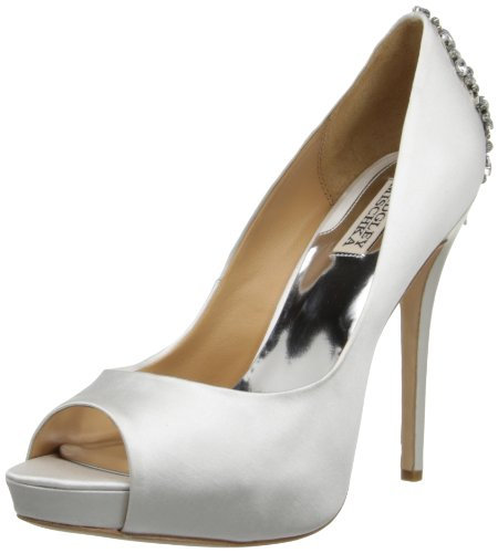 Badgley Mischka Women's Kiara Platform Pump,White,8 M US