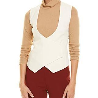 Akris Womens Wool Vest, 4, White