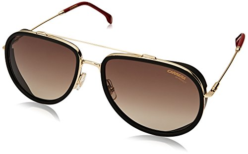 Carrera Men's Aviator Sunglasses, Gold RED, 59 mm