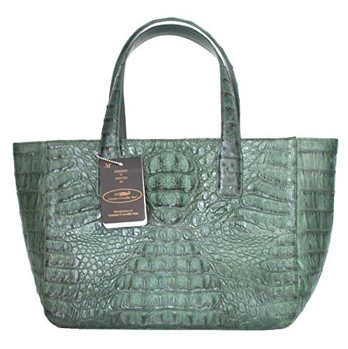 Authentic M Crocodile Skin Womens Hornback Bag Tote