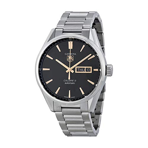 Tag Heuer Carrera Calibre 5 Black Dial Stainless Steel Mens Watch