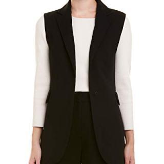 Akris Womens Wool-Blend Vest, 10, Black
