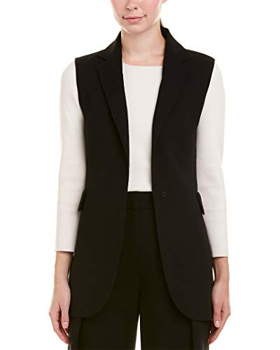 Akris Womens Wool-Blend Vest, 10, Black