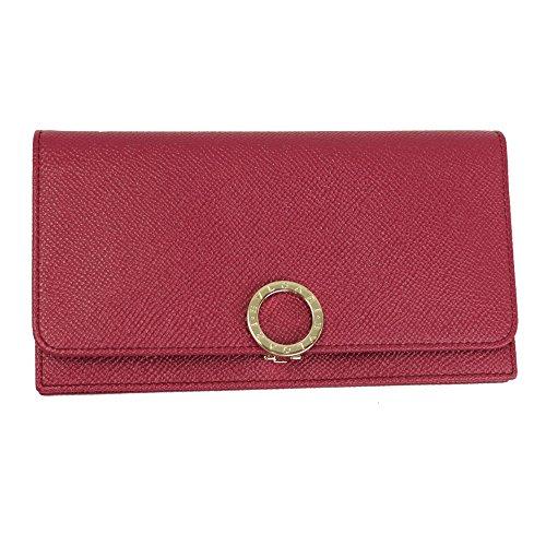 Bvlgari Bvlgari Pink Leather Bi-fold Long Wallet