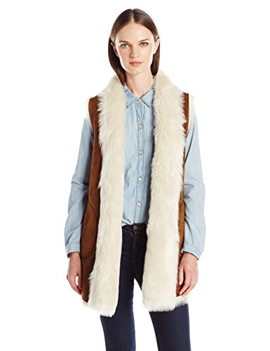 Marc New York by Andrew Marc Women's Sasha Faux Fur Long Vest