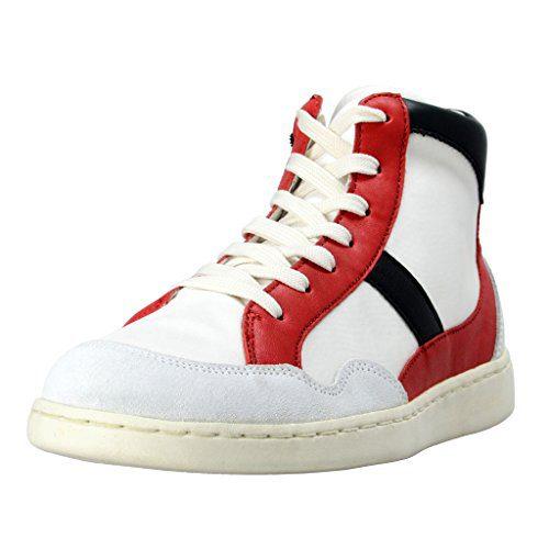Dolce & Gabbana Men's Canvas Leather Hi Top Sneakers Shoes US