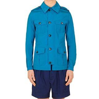 Gucci Stretch Windbreak Turquoise Polyamide Elastane Blouse Jacket