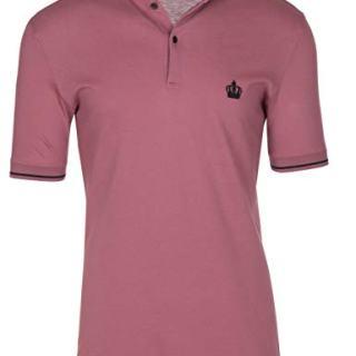 Dolce & Gabbana Men's Pink Crown 'Corona' Short Sleeve Polo Shirt