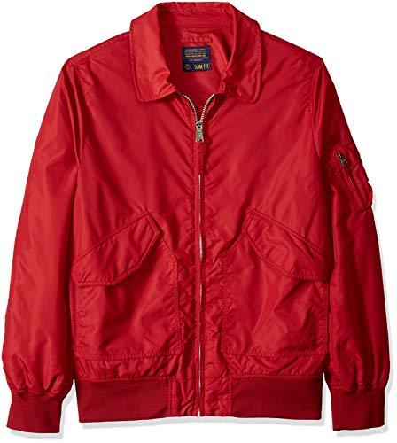Alpha Industries Men's Length Flight Jacket, Commander red, X-Small