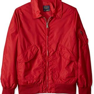 Alpha Industries Men's Length Flight Jacket, Commander red, X-Small