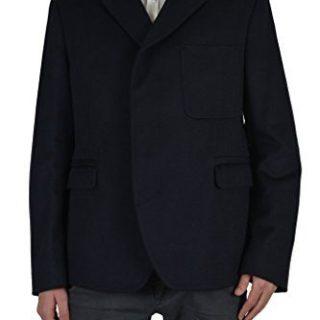Gucci Silk Navy Button Down Men's Blazer Jacket