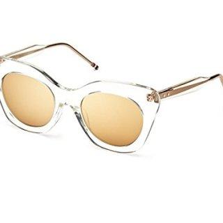 Sunglasses THOM Crystal Clear w/ Dark Brown-Gold Flash-AR