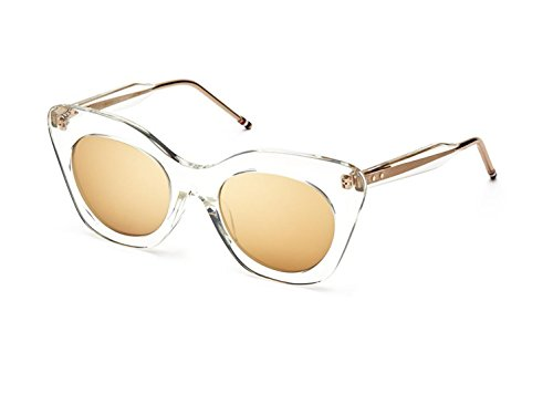 Sunglasses THOM Crystal Clear w/ Dark Brown-Gold Flash-AR