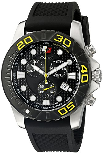 Calibre Men's Akron Analog Display Quartz Black Watch