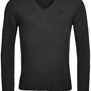 Versace Collection Black Wool V-neck Sweater (M)