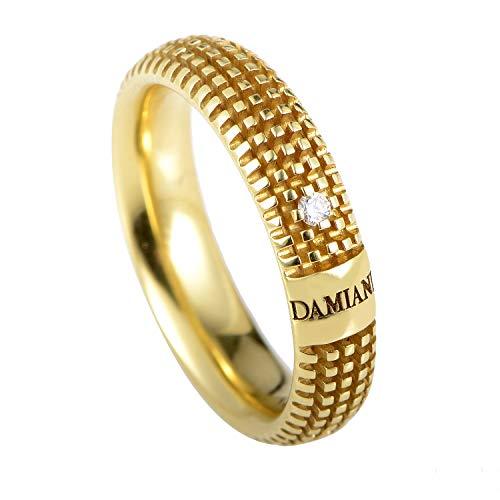 Damiani Metropolitan 18K Yellow Gold Diamond Textured Band Ring