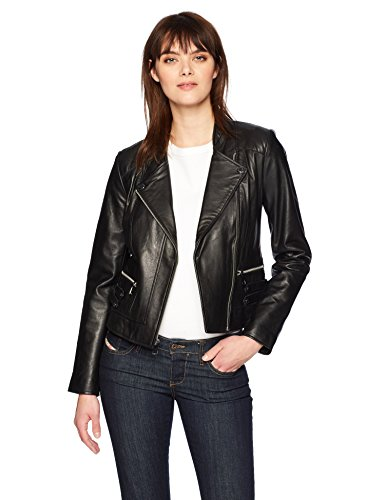 Marc New York by Andrew Marc Women's Ginny Faux-Leather Moto Jacket