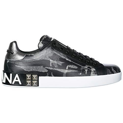 Dolce & Gabbana Men Portofino Sneakers Grigio 8 US