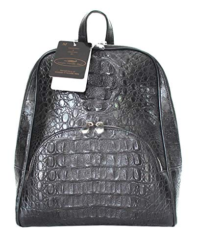 Authentic M Crocodile Skin Womens Hornback Bag Backpack Large Handbag