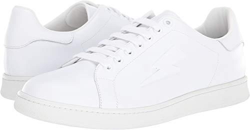 Neil Barrett Men's Thunderbolt Tennis Sneaker White