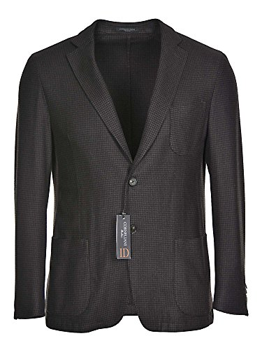 Corneliani Mens Cashmere Houndstooth Unstructured Sportcoat