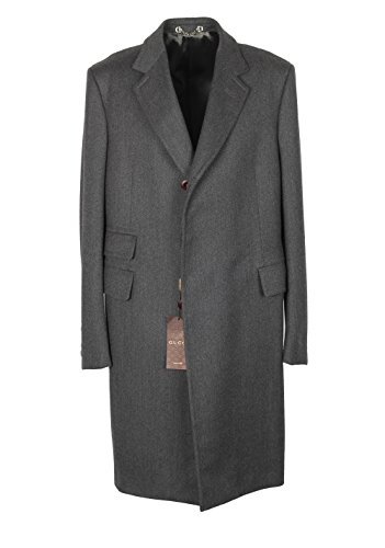 Gucci CL Gray Overcoat Size 52 / 42R U.S. in Wool