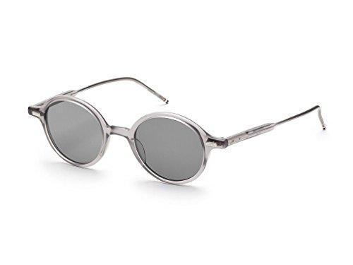 THOM BROWNE Satin Crystal Grey w/ Dark Grey-AR Sunglasses