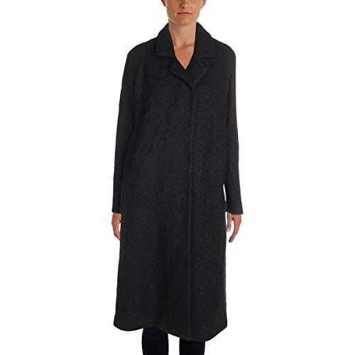 Andrew Marc Women's Long Wool-Blend Coat, Black, 4