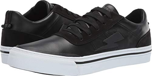 Neil Barrett Men's Thunderbolt Skater Sneaker Black/Black/White