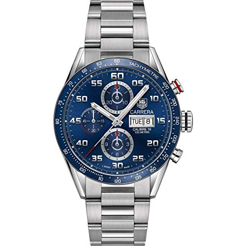 TAG Heuer Carrera Calibre 16 Automatic Chronograph Blue Dial Men's Watch