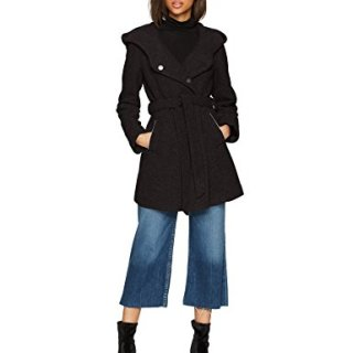Marc New York by Andrew Marc Women's Flair Bealted Wool Jacket, Black, 4