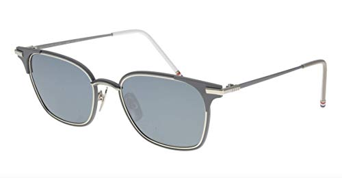 Sunglasses THOM BROWNE Matte Grey-Silver w/Dark Mirror-AR