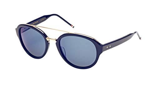 THOM BROWNE Sunglasses Navy-Shiny 18K Gold/Dark Grey