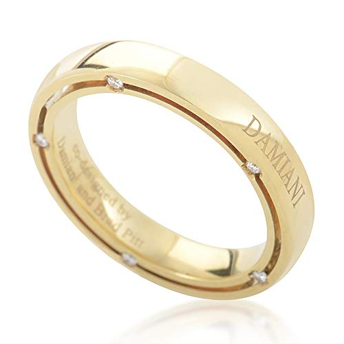 Damiani D.Side Brad Pitt 18K Yellow Gold 10-Diamond Band Ring