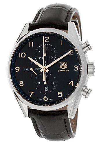 Tag Heuer Carrera Calibre Chronograph Automatic Black Dial Mens Watch