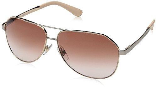 Dolce & Gabbana Women's Sicilian Taste Aviator Sunglasses, Pink Gold, 61 mm