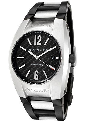 Bulgari Men's Diagono Mechanical/Automatic Black Carbon Fiber Dial Black Rubber