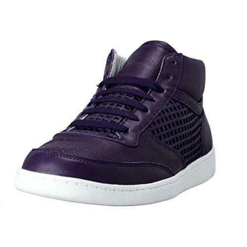 ef038402b4e Dolce   Gabbana Men s Purple Leather Fashion Sneakers Shoes Clout ...