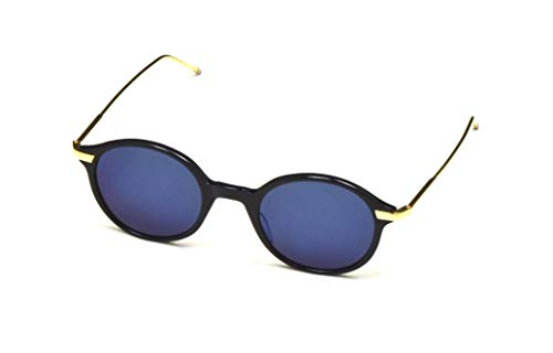 49964cfca84 THOM BROWNE Sunglasses Navy-18K Gold Dark Grey-Blue Mirror-AR 46mm ...